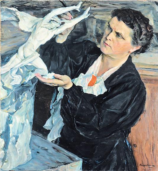 Нестеров М.В. Портрет В.И. Мухиной, 1940 г., Третьяковская галерея.